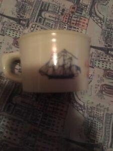Vintage Old Spice Shulton Shaving Mug • Ship Grand Turk Salem -1786
