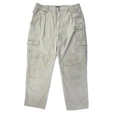 511 5.11 Tactical Mens Size 36x30 Khaki Tan Work Canvas Pants Style 74251 Cargo