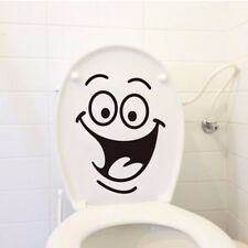 50Pcs Removable Smile Face Funny Bathroom Toilet Seat Home Wall Sticker Art De