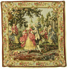 Pillow Cover Tapestry Bourgeois Renaissance 18X18  Made In France