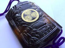 Samurai Inro Japanese traditional pill box on Mitsuba aoi Tokugawa crest crane