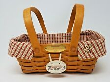 "Longaberger - 2000 Woven Memories 10"" Basket w/Homestead Liner & Porcelain Charm"
