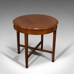Antique Circular Coffee Table, English, Oak, Lamp, Side, Victorian, Circa 1880