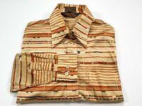 Vintage Huk-A-Poo L Men's Nylon Man Tailored Long Sleeve Button Up Shirt HukAPoo