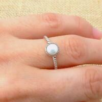 River Pearl 925 Sterling Silver Solitaire Ring Indian Jewellery