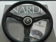 NARDI CLASSICO 360 steering wheel black leather black spokes size 14,17 inch.