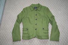 EUC Women's Etcetera Olive Green Wool Coat Jacket Size 10 Lined Dress Maker