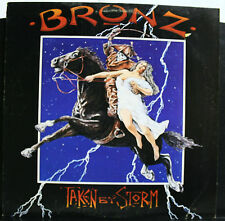 VINYL RECORD ALBUM BRONZ TAKEN BY STORM 90166-1 PROMO HAIR METAL