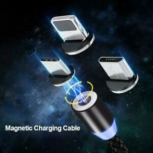 3 in 1 Magnetic Fast Charging USB Cable Charger For Type-C Micro USB iPhone
