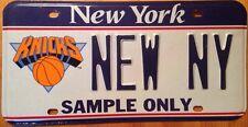 New York Knicks NBA license plate sample National Basketball Association Madison