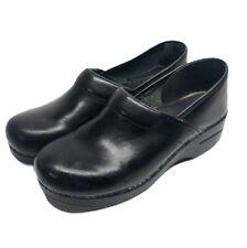 DANSKO Professional Black Leather Clogs Size 40 US 9.5-10 Womens Nursing Shoes
