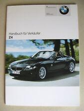 Verkäufer Handbuch BMW Z4 Roadster E85 2.0i 2.2i 2.5i 3.0i  Modelle 2005 2006 D