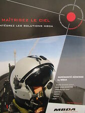 6/2011 PUB MBDA MISSILE SYSTEMS PILOT CASQUE HELMET ORIGINAL FRENCH AD