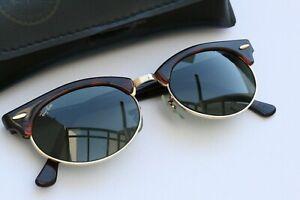 Original vintage Bausch und Lomb Ray-Ban Clubmaster USA Sonnenbrille braun
