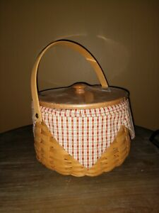 Longaberger CC 2001 Edition Sewing Circle Basket Combo With liner and Lid!