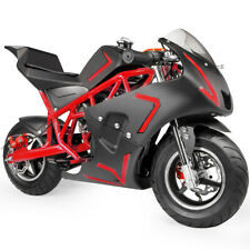 Kids Gas Pocket Bike 4 Stroke 40Cc Mini Ride On Motorcycle Toys Boys Girls Red