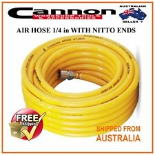 15 METERS 1/4 in AIR HOSE LINE PVC WITH NITTO STYLE FITTINGS NEW