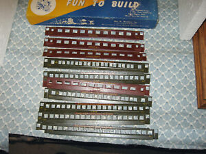 HO VINTAGE WALTHERS INDIANA & NEW JERSEY PASSENGER CAR SIDE PANELS! ONLY 25.00!