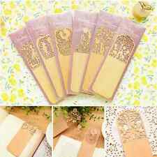 3pcs Delicate Bookmark Lace Hollow Out Wood Bookmarks Book Marker School tool