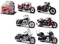 6PC HARLEY DAVIDSON MOTORCYCLE SET SERIES 33 1/18 BY MAISTO 31360-33