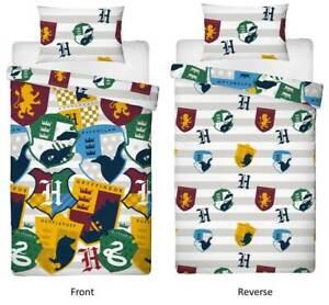 Harry Potter Stickers Single Official Duvet Cover Reversible Bedding Set