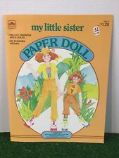 1982 Golden. My Little Sister Paper Dolls, Uncut, Condition New