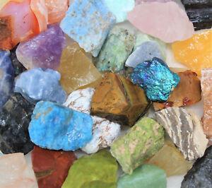 "1/2 lb Mixed Lot Large 1""- 2"" Natural Rough Mineral Rocks Tumbling Stones"