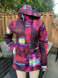 Volcom Thermonite 10,000 Mm Snowbard Jacket Let It Storm Womans Size Small