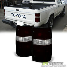 For Red Smoke Factory Style 1989-1995 Toyota Pickup Tail Lights Lamps Left+Right