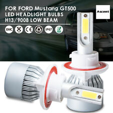 Front Cree H13 9008 LED Headlight Kit Bulbs For Ford Mustang GT500 2012-2005