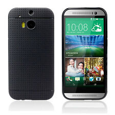 Multihole Dots Gel TPU Case Cover Skin Shield for HTC ONE M8 Black Tide