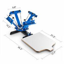 4 Color 1 Station Silk Screen Printing Machine T Shirt Press Diy Kit Equipment