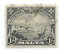 Malta 1926 1 shilling black fine used