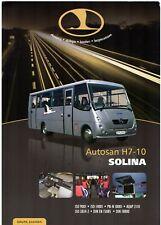 Autosan H7-10 Solina Bus 2010 Polish Market Single Sheet Sales Brochure