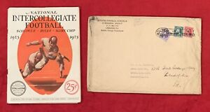 Antique 1925 Stall & Dean Football Guide Schedule Rulebook Vintage Old Early