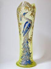 """François Théodore Legras vase signé modèle """"Belgrade"""" décor de Paon"""