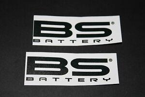 +038 BS Battery Batterie Motorrad Aufkleber Decal Sticker Autocollant Pickerl