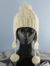 Istruzioni stampate-BIG Pompon facile Cavo Trapper Hat knitting pattern