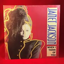 "JANET JACKSON When I Think Of You 1982 UK 12"" Vinyl Single EXCELLENT CONDITION A"