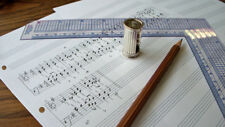A4 Manuscript Pad - Single-sided, punched music, paper, stave