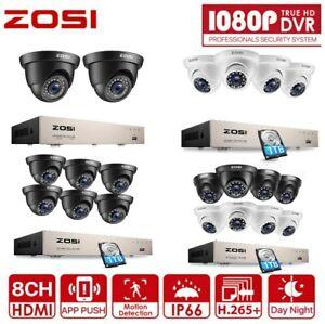 ZOSI H.265+ Kit Vidéo surveillance Caméra de Sécurité Filaire CCTV Alarme Maiso