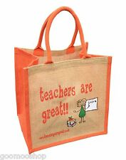 """Teachers are Great"" Jute Shopper from These Bags Are Great - Gift For Teacher"
