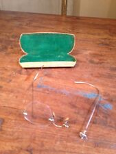1929 Antique 12K Gold Bausch & Lomb Wire Glasses Eyeglasses Steve Jobs Rare