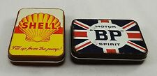 Pair of Collectable Oil/Petrol Tin Plate Keepsake/Tobacco/Sweet Tins BP/Shell