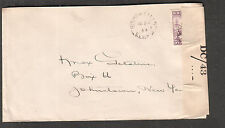 Canada Newfoundland Jul 1944 Wwii Pc90 Dc/43 censor cover Bishop Falls to Ny