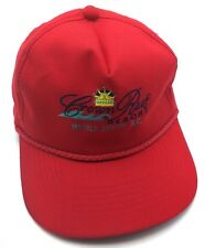 CROWN REEF RESORT (SC) red adjustable cap / hat