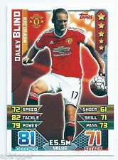 2015 / 2016 EPL Match Attax Base Card (171) Daley BLIND Manchester United
