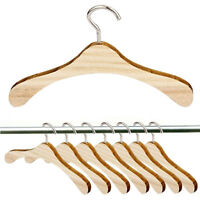 12Pc Wooden Hangers(1 Dozen) made for 1:4 Doll Clothes Fashion:
