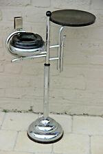 ART DECO bakelite chrome Ashtray Smoking table stand n2
