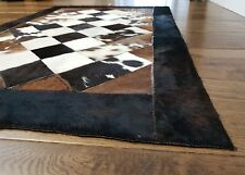 Cowhide Patchwork rug, Hair-On Fur Leather, Animal skin Cow Skin , Peau vache